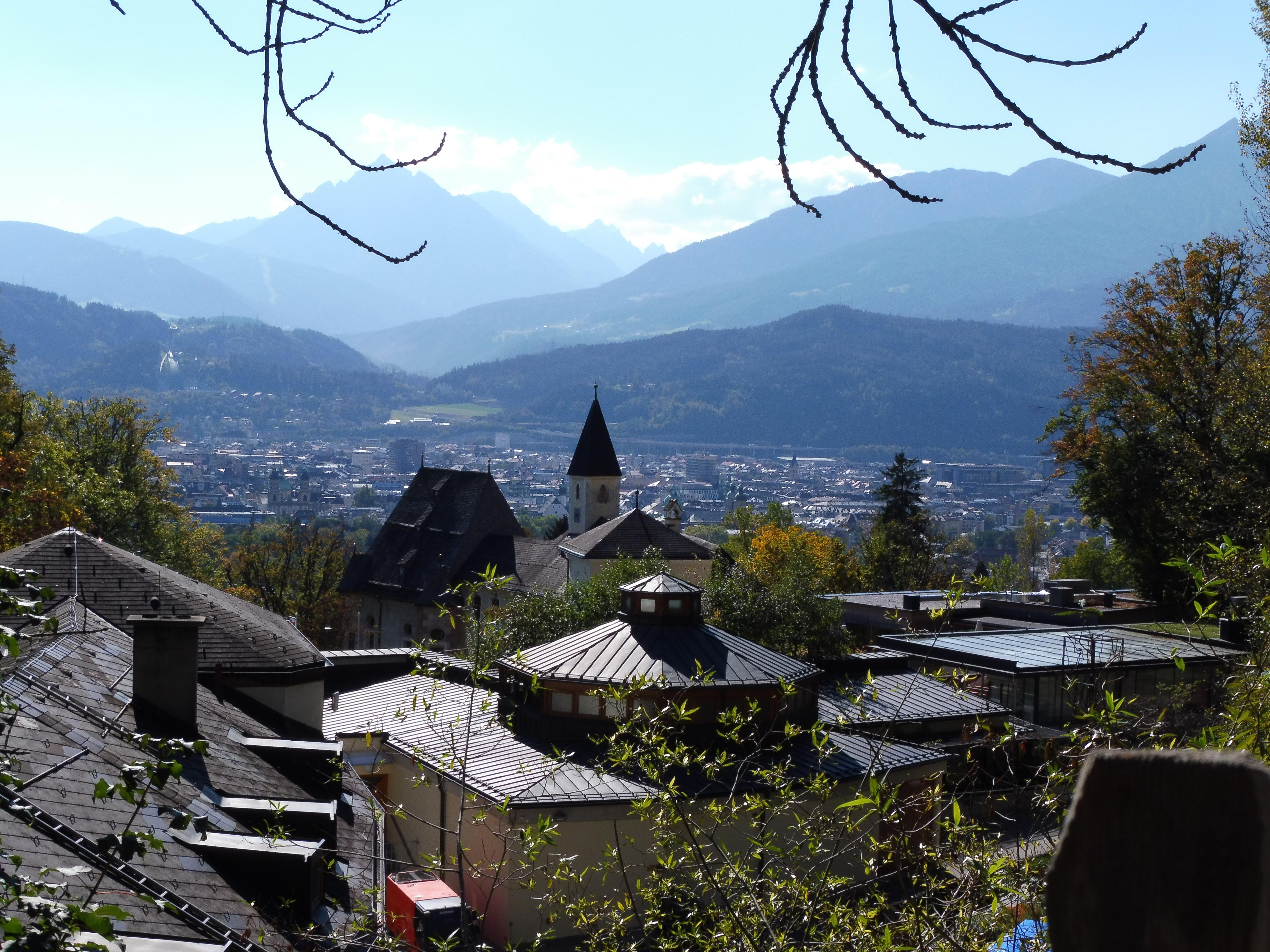 Ein wunderschöner Ausblick vom Alpenzoo auf Innsbruck